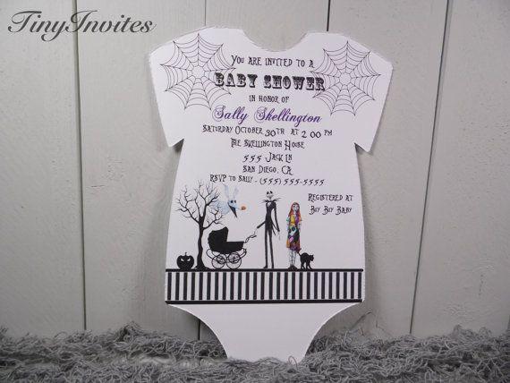 Nightmare Before Christmas Baby Shower Invitation Jack