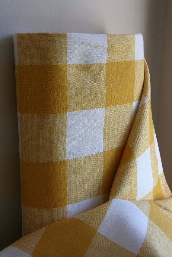 Anderson Home Decor Weight Fabric From Premier By Sewfinefabric 6 25 Buffalo Check Fabric Fabric Decor Yellow Throw Pillows