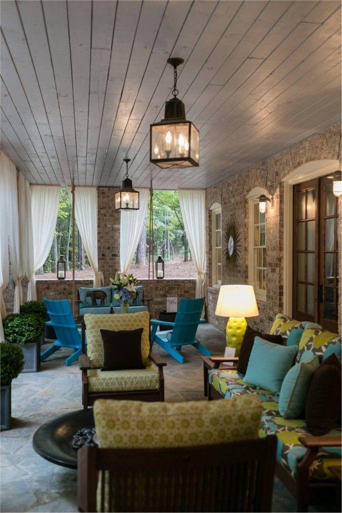 15 Dreamy Farmhouse Porches | Indoor outdoor living ... on Farmhouse Outdoor Living Space id=29877