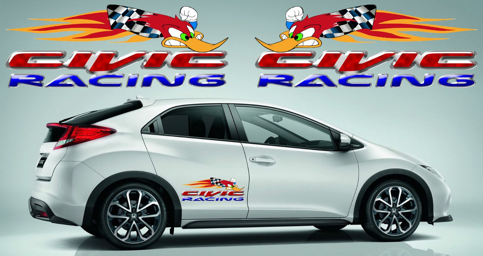 Pin by Juan Nogueira on Honda Racing Decals | Honda civic, Decals, Honda