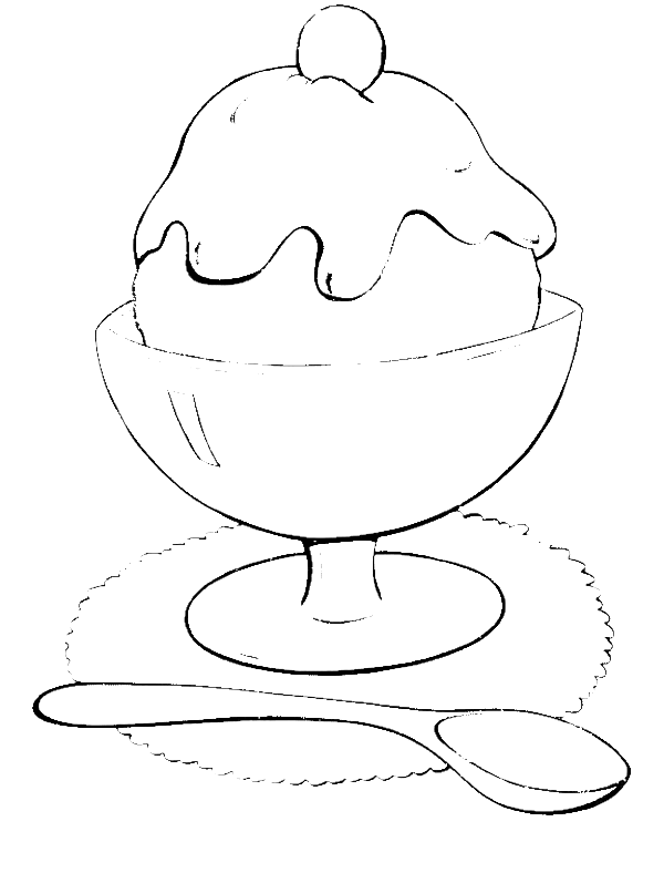 Ice Cream Cup Coloring Pages