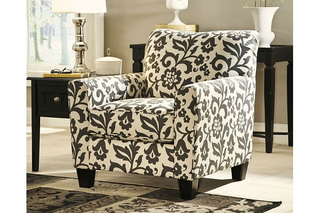 Levon Chair Charcoal Accent Chair Printed Accent Chairs Ashley