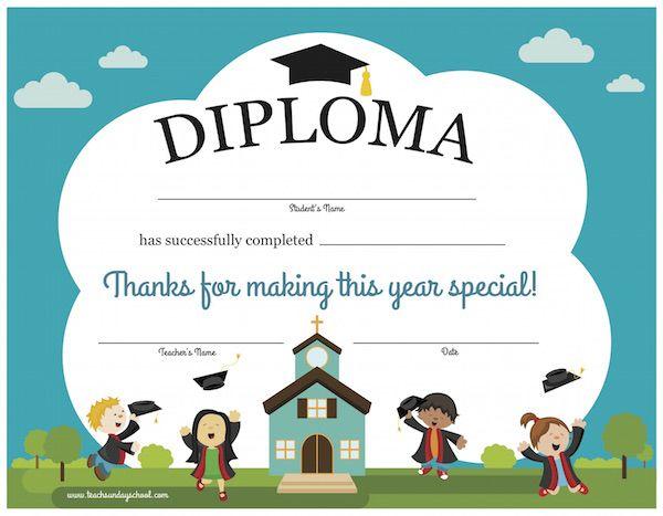 Printable Sunday School Diploma   Sunday School