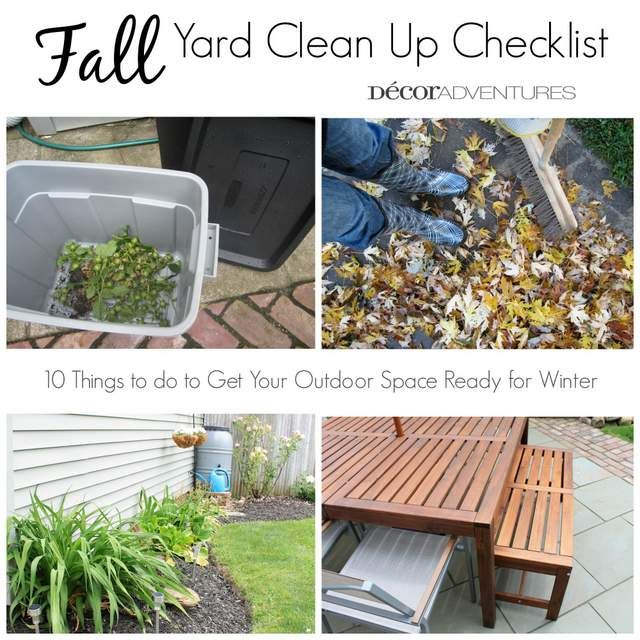 Fall Clean Up, Outdoor Gardens