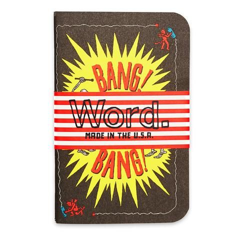 WORD! Seriously, in love w/ the #FireworkSeries #notebooks @wordnotbooks featuring various artists | #WORDnotebooks #stationery #unique #JonContino #WORDSsmith #journal