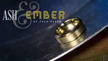 Ash and Ember Gold Beveled Size 13 (2 Rings) by Zach Heath - Trick