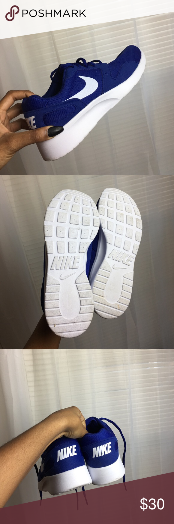 Woman's Kaishi Nike Deep Royal Blue w/ White. Come with extra white shoe laces in the box. Will have the original Nike box which is in good condition. Gently used, only worn once! Nike Shoes Sneakers