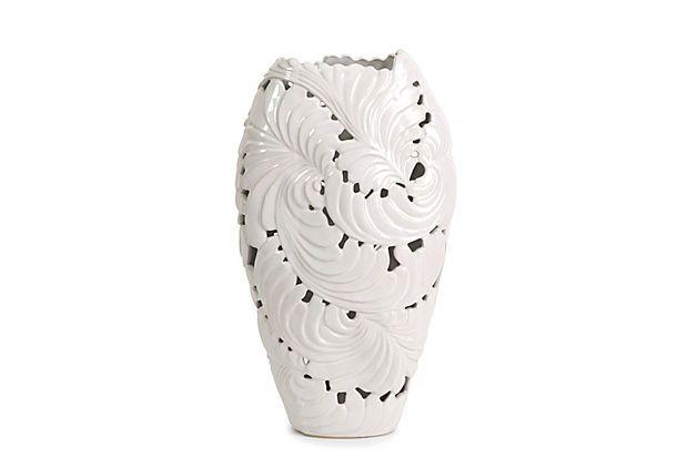 "Ortiz Cutwork Leaf Vase, Large, 16.5""h on OneKingsLane.com"