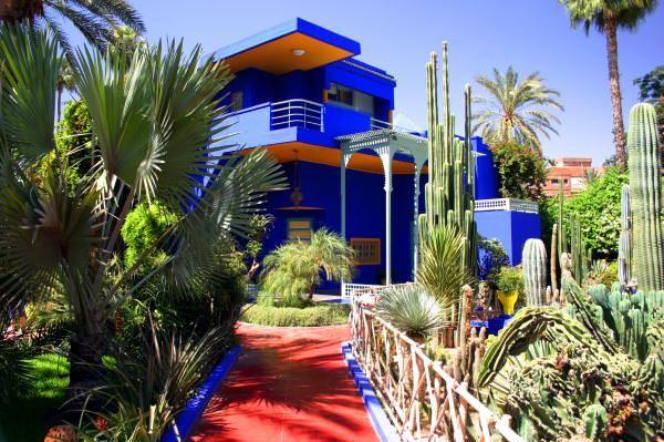 The Majorelle Garden In Marrakech Zeitgenossischer Garten Marrakesch Marokko