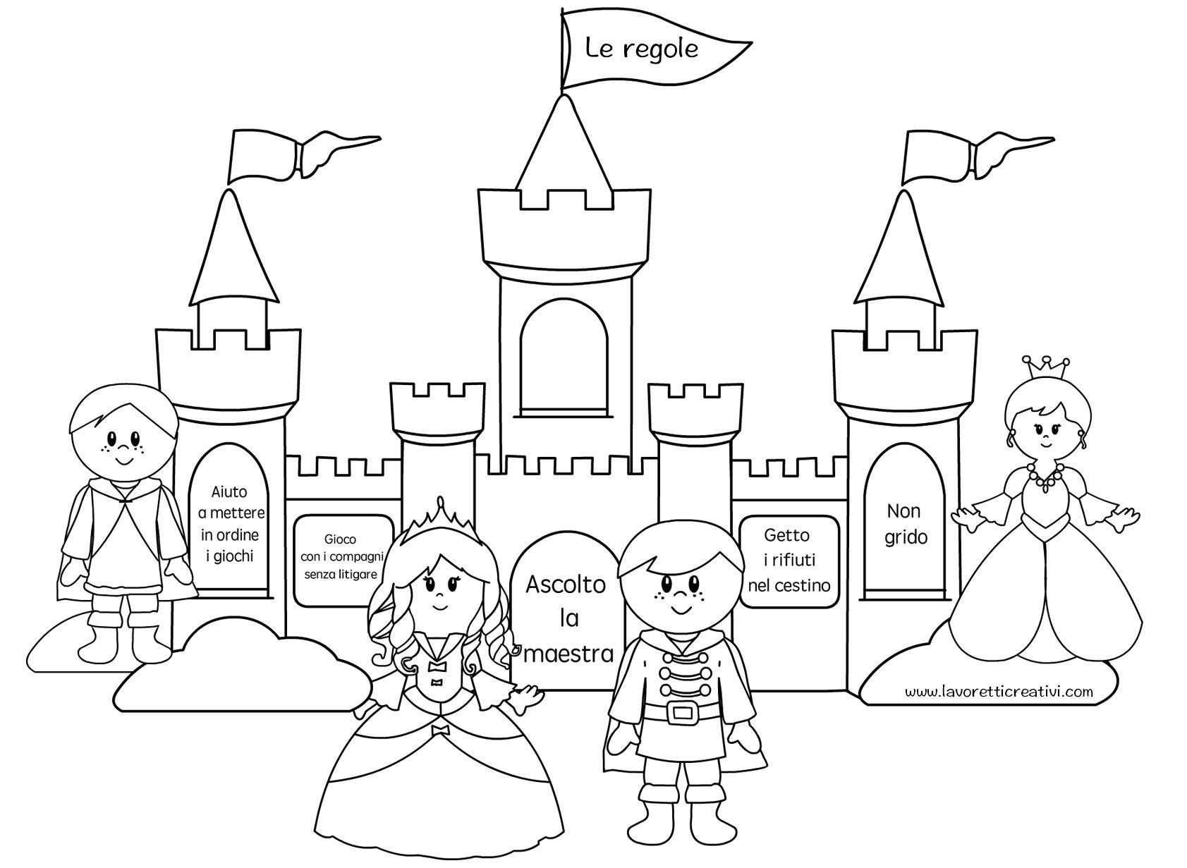 Castello Regole Principesse Regole Coloring Pages Fairy Tales E