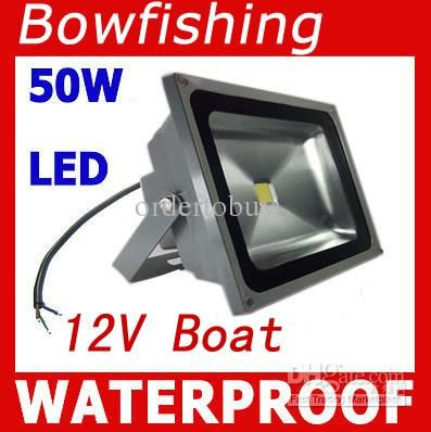 High Quality Bright Light 50w Led Flood Lights 12v 24v Bowfishing Leds Boat Lighting 50 Watt Lights 5500lm Floodlights D Boat Lights Boat Led Bowfishing Lights
