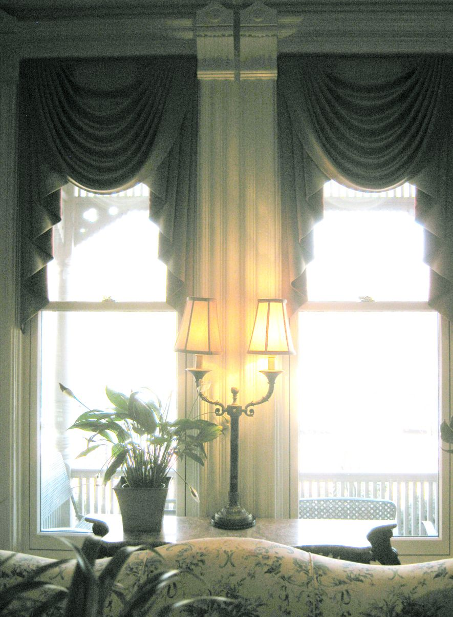 Swag Draperies Partial Window Coverage For A Victorian Living