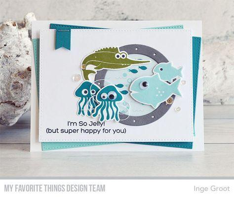 Ocean Fun stamp set and Die-namics, Ocean View Porthole Die-namics - Inge Groot #mftstamps