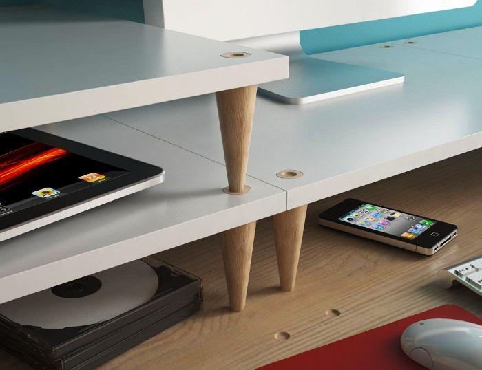 Le bureau à niveaux ade par manrico freda Разное furniture