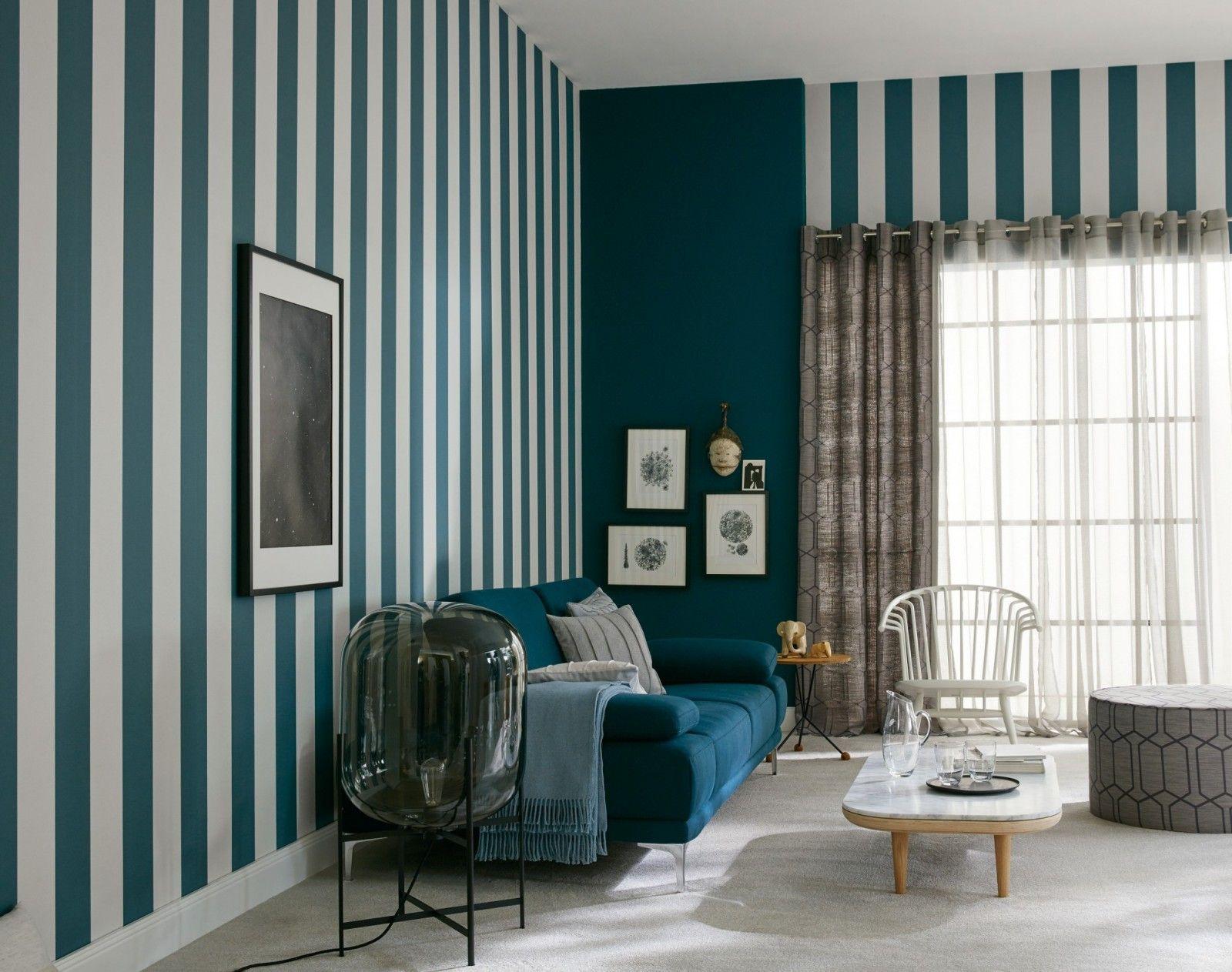 Schoner Wohnen Tapeten Luxus Schoner Wohnen Tapete Streifen Grau Blau Habitacion