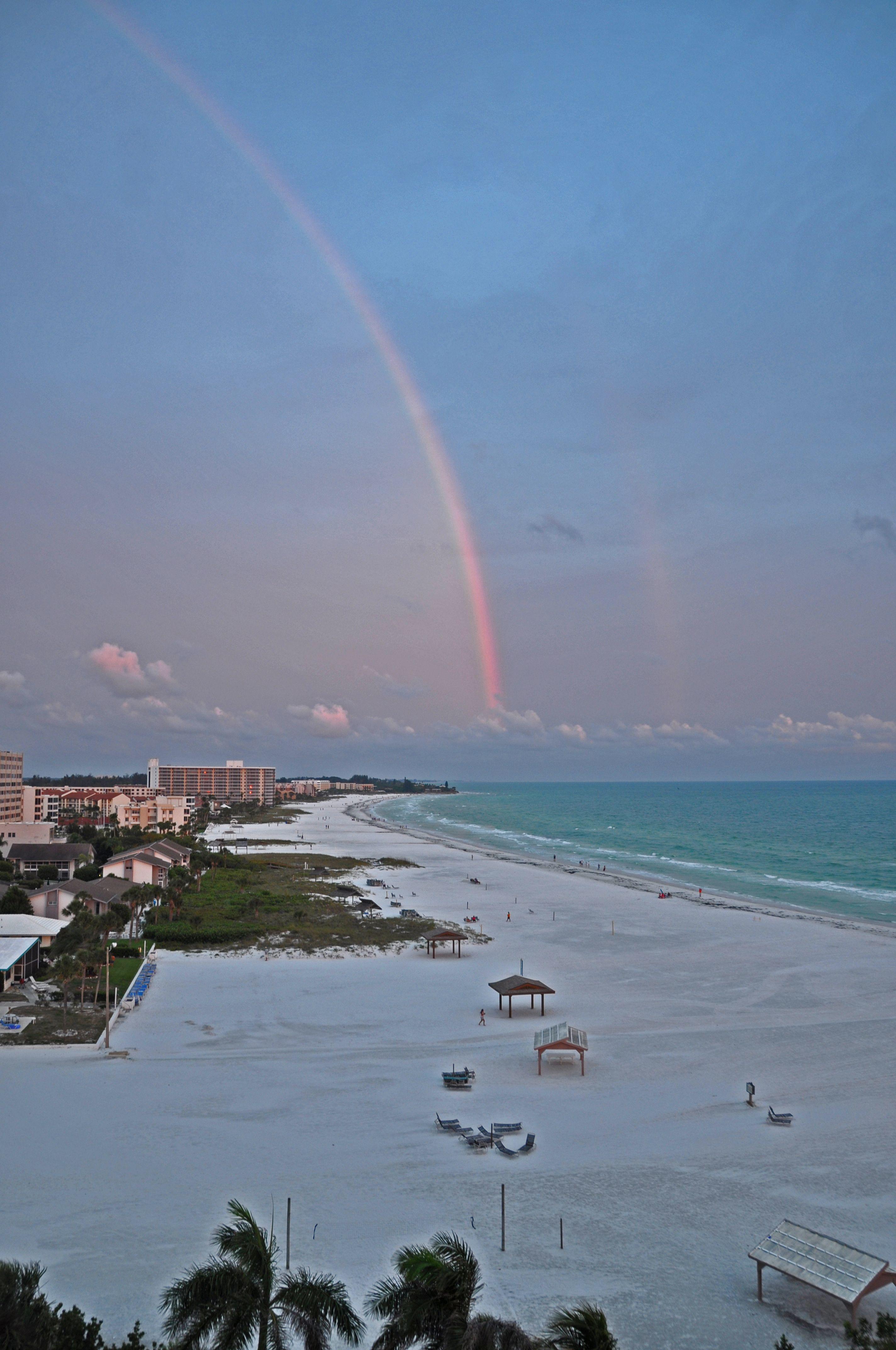 Rainbow On Siesta Key Beach Fl