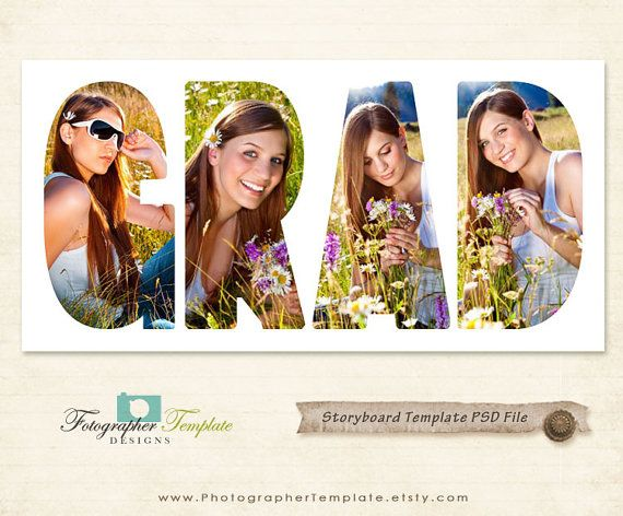 Grad Photography Storyboard Template By Photographertemplate