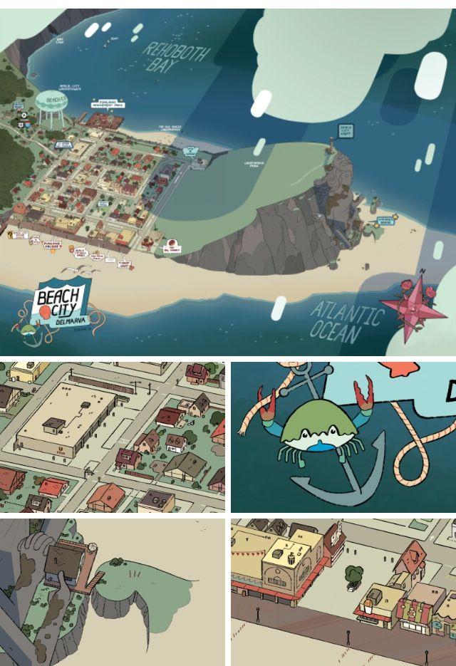 Beach City Official Map Steven Universe City Maps Steven