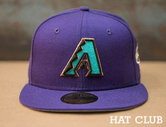 401b06f6da8 Arizona Diamondbacks 2001 World Series Patch Fitted Caps   HAT CLUB ...