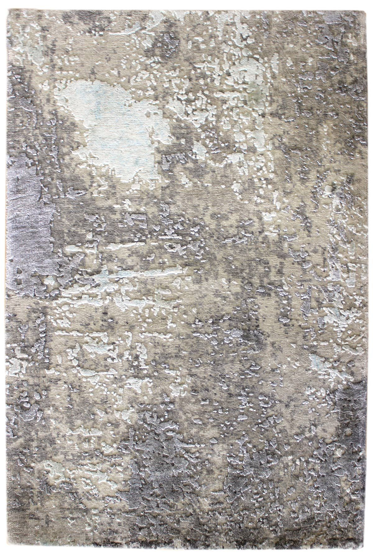 Recent Arrivals Gallery Modern Patinated Look Rug Hand