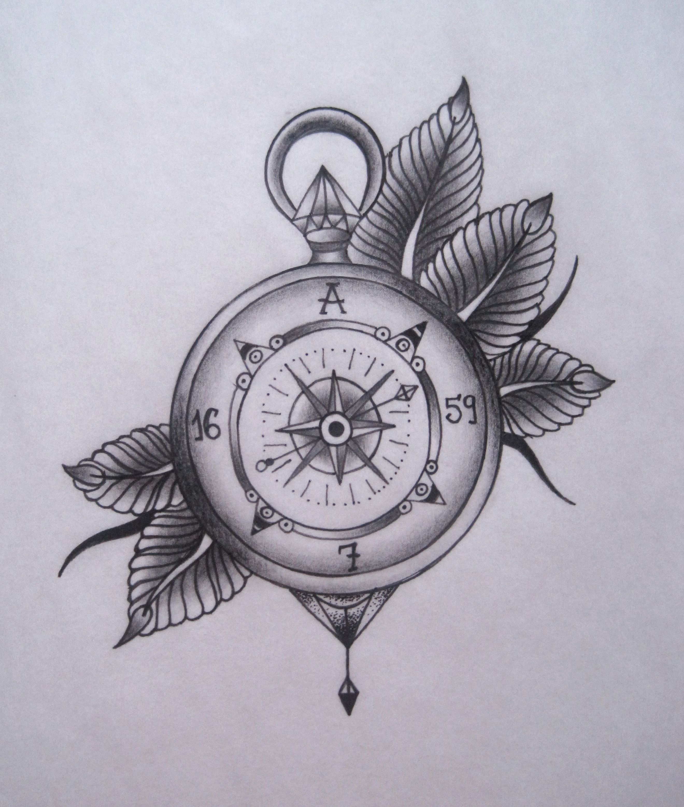 Compass Tattoo | Tattoo\'s | Tattoo zeichnungen, Kompass, Tätowierungen