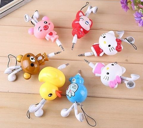 http://s.aliexpress.com/F7Bf2u2I  #kawaii #earphones #hellokitty #doraemon #rilakkuma #ducky #cute