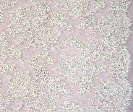 Lace fabric Bridal lace Alencon Lace M00166 Lingerie Lace Veil lace Black lace fabric Embroidered lace Wedding Lace French Lace