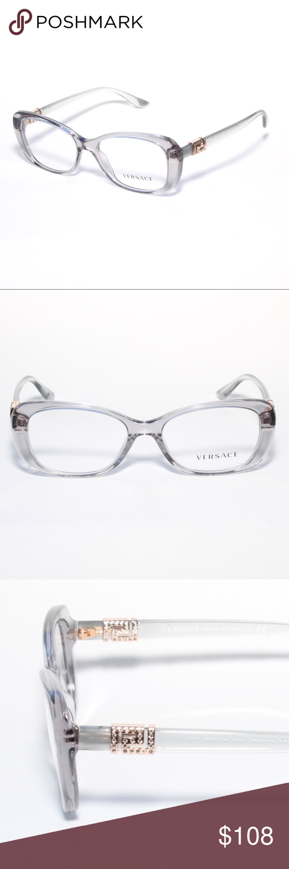 21afc8667153 Versace Eyeglasses 3234-B 593 51 16 Transparent Gr Brand new 100% authentic Versace  Eyeglasses 3234-B 593 51 16 Transparent Gray Comes with Generic Case