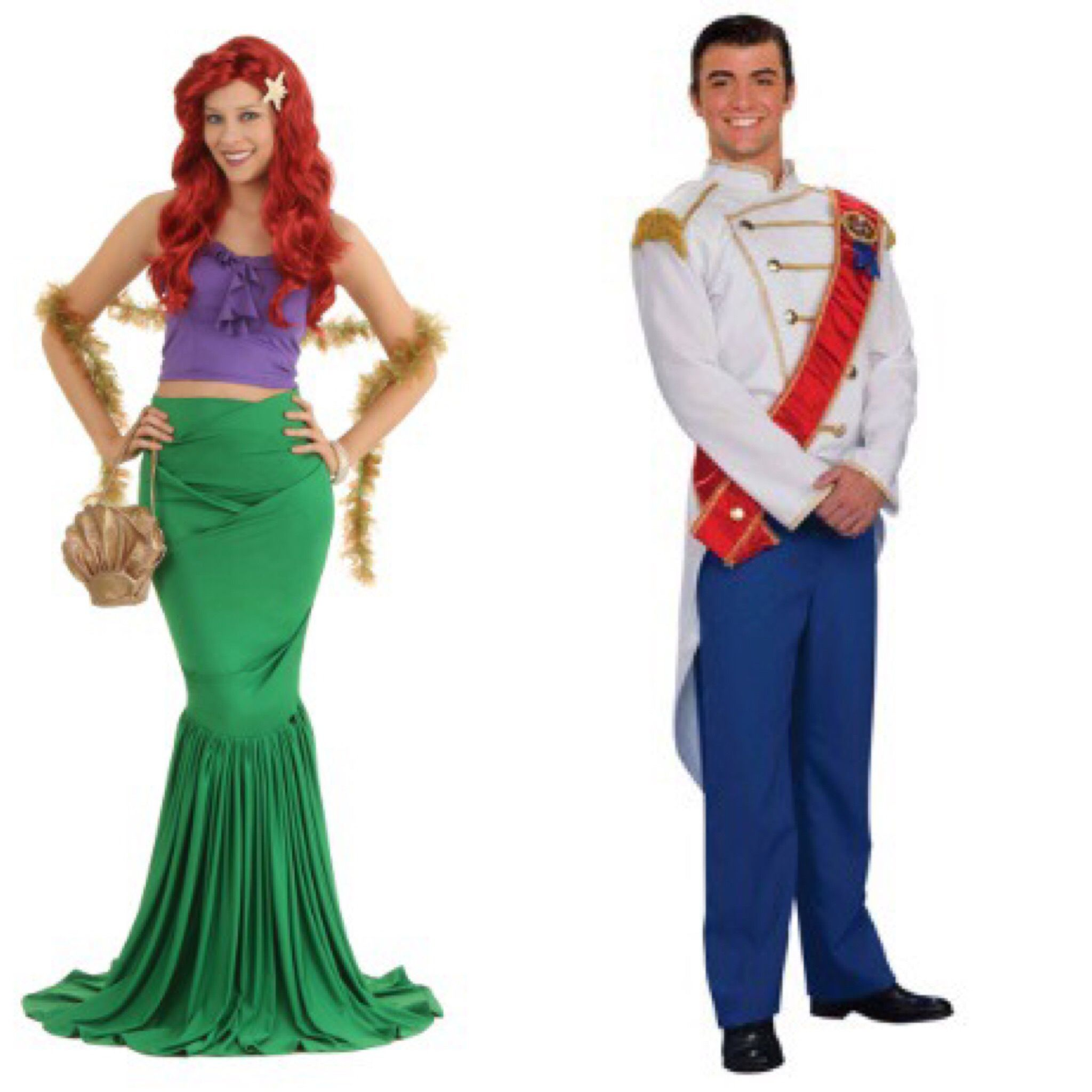 a0683cc6111f Ariel and Prince Eric costumes.
