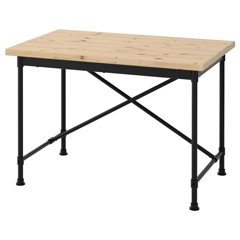 "KULLABERG Desk - pine, black 36 36/36x36 36/36 "" (With images)  Ikea"