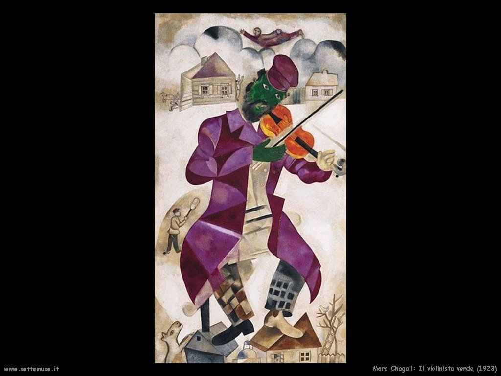 Marc Chagall El Violinista Verde 1923 Chagall Arte