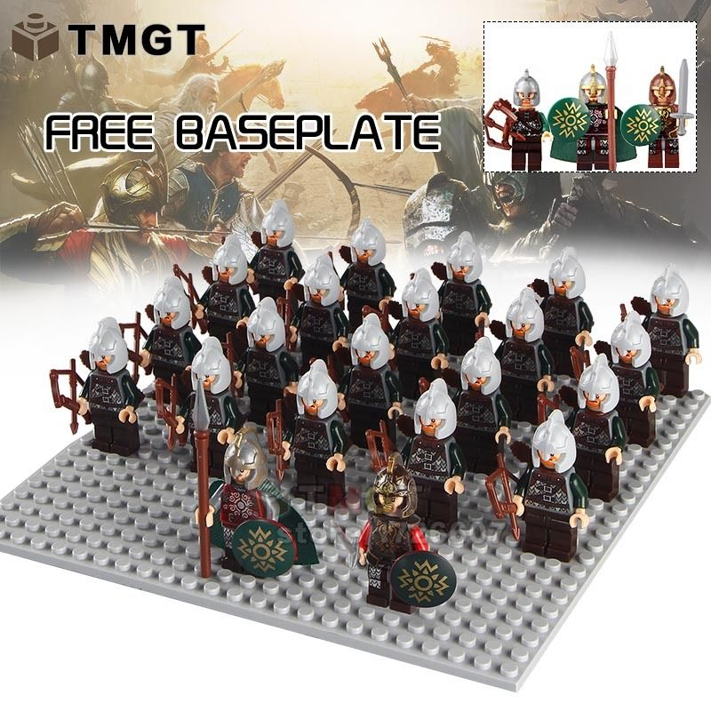 21Pcs Minifigures lego Medieval Knight Roman Crusader Soldiers Custom Toys Child