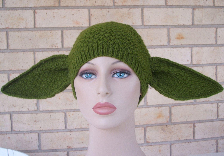 Adult female size yoda hat by knitterkrys on etsy 3600 nerdy pdf pattern only yoda hat knitting pattern child adult sizing included dt1010fo