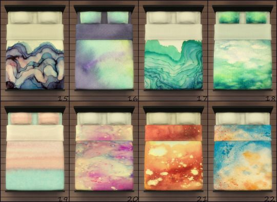 Lua S Cc Finds Watercolor Bedding Sims 4 Sims 4 Bedroom