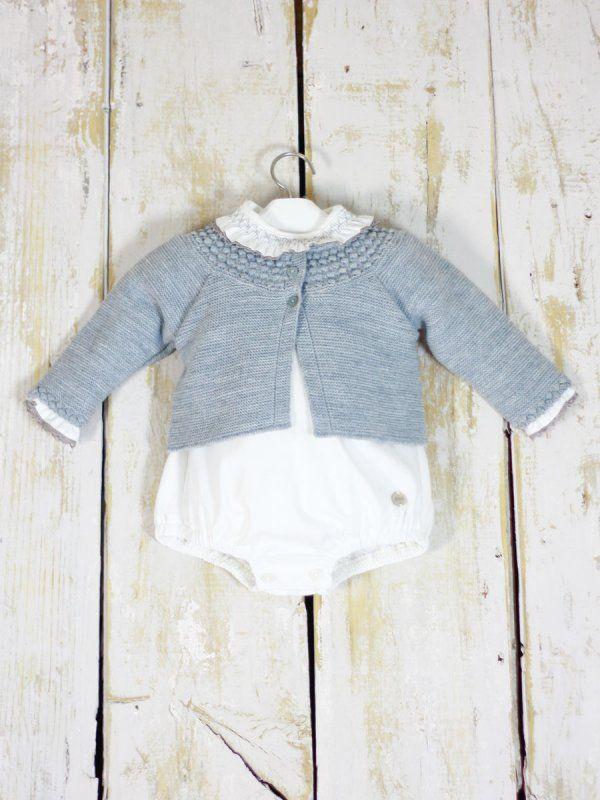 674e3968c chaqueta gris invierno bebe niño niña paz rodriguez clásica punto bobo