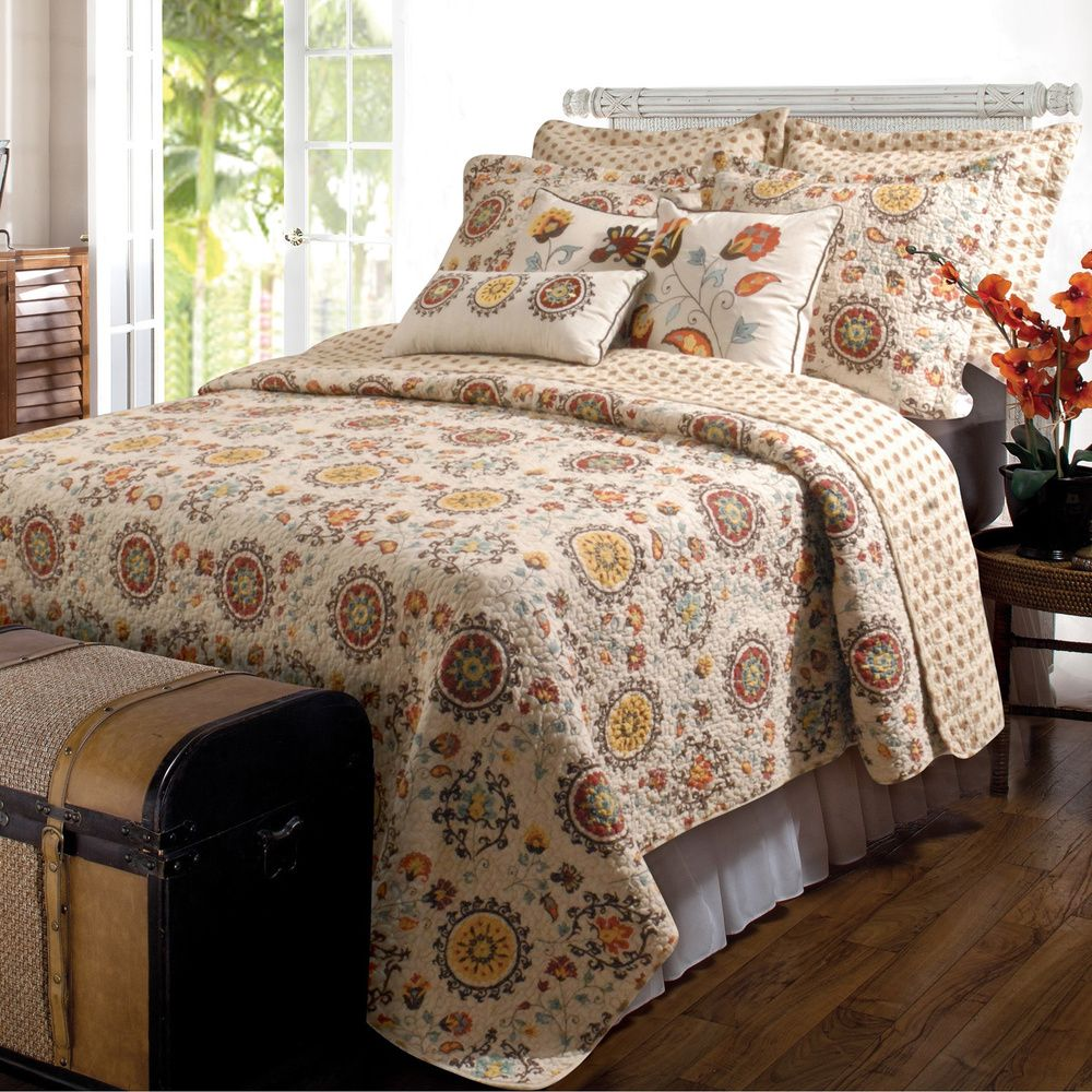 Andorra Bonus Quilt Set Add A Pop Of Pattern To Your Master Suite Or Guest  Room With This Lovely Cotton Quilt Set, Showcasing A Multicolor Medallion  Motif ...