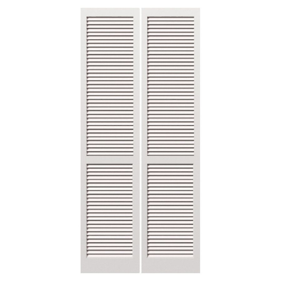 Shop Reliabilt 30 In X 79 In Louvered Solid Core Pine Interior Bifold Closet Door At Lowes Com Wood Doors Interior Interior Wood Shutters Bifold Door Hardware
