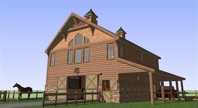 Elegant Barns With Living Quarters | Job Page 4 Horse Barn With 2 Bedroom Luxury Living  Quarters