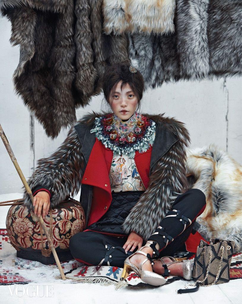 "koreanmodel: "" Jin Jung Sun, Seon Hwang, Jung Ho Yeon by Kim Sang Gon for Vogue Korea Dec 2015 """