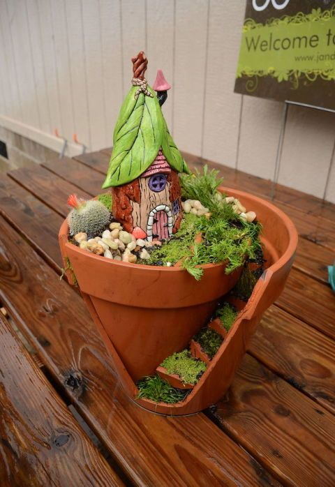 9 Tiny Gardens Made Magical With Fairy Doors | Outdoor Spaces | Mini