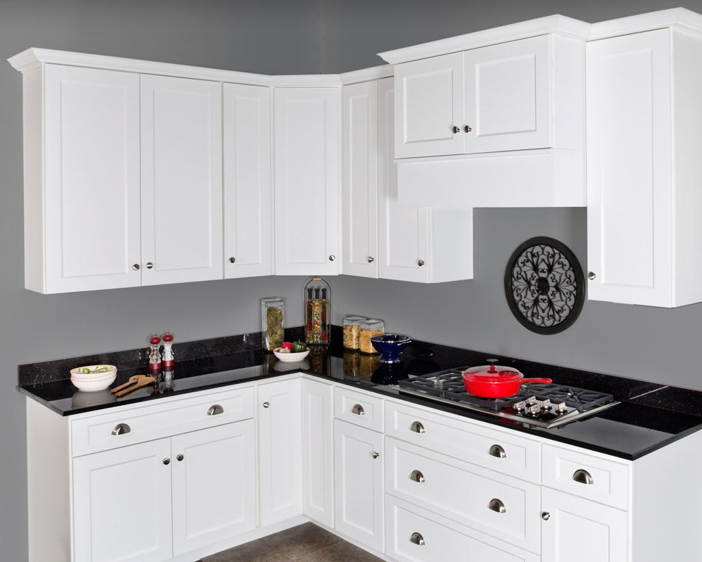 All wood shaker style with molding york antique white or chocolate - Wolf Classic Cabinets In The Dartmouth Door Style In White Paint Sleek And Contemporary Pinterest Classic Cabinets White Paints And Cabinets