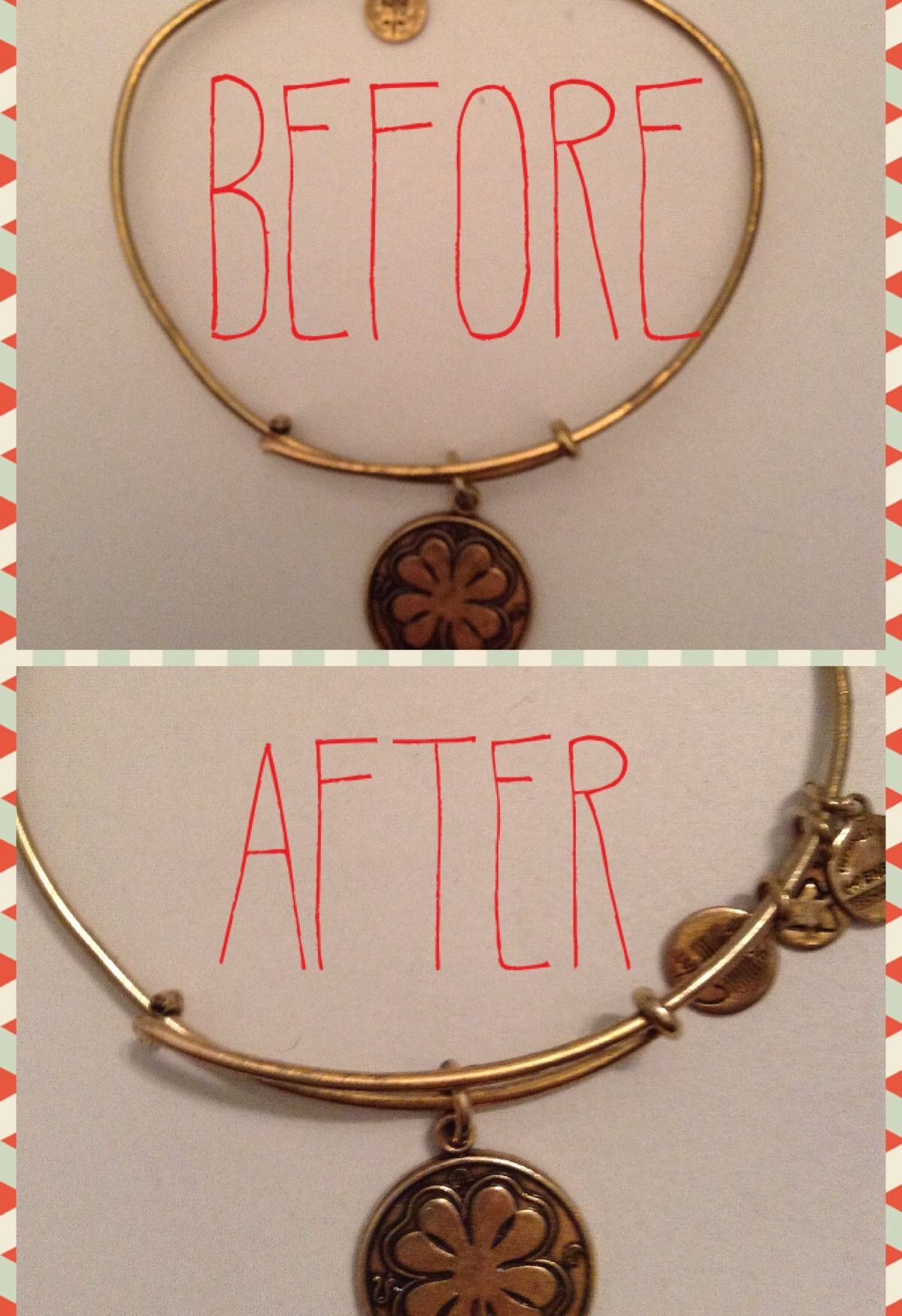 how to clean tarnished alex and ani bracelets with ketchup