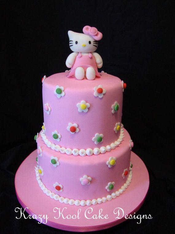 Cake Topper Parties Pinterest Hello kitty cake Kitty cake