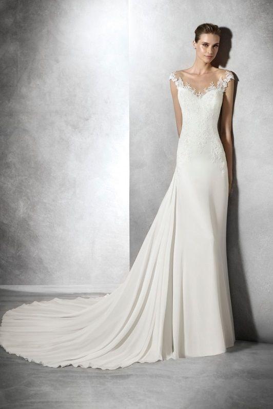 Pronovias Wedding Dress Hampshire Pronovias Wedding Dress Chiffon Wedding Dresses Lace Wedding Dress Styles