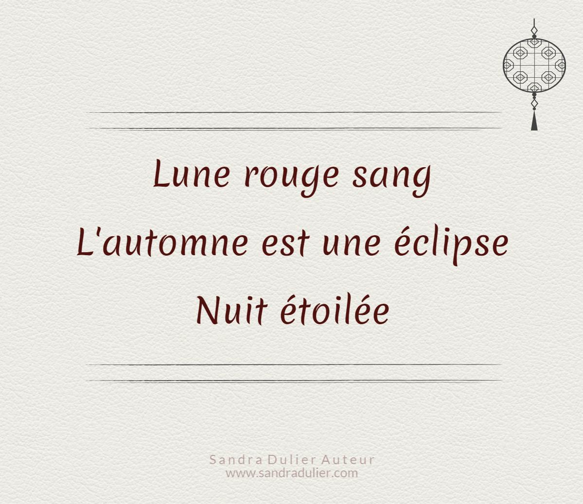 lune rouge sang haiku haiku lune