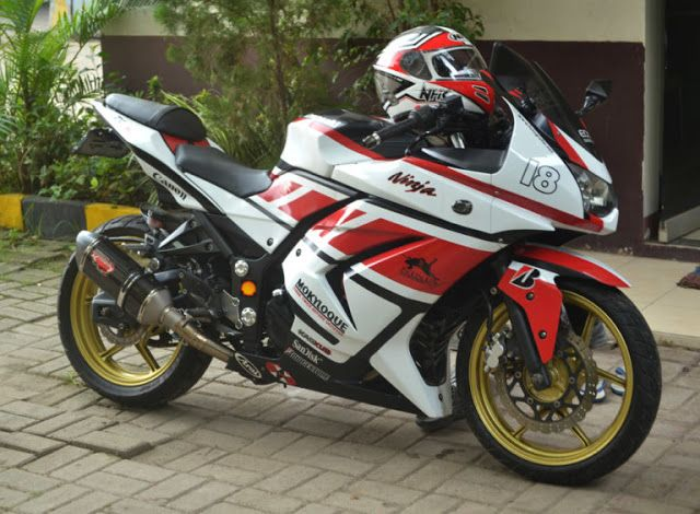 Kawasaki Ninja 150 Ss Biru Modifikasi Simpel Modifikasi Motor