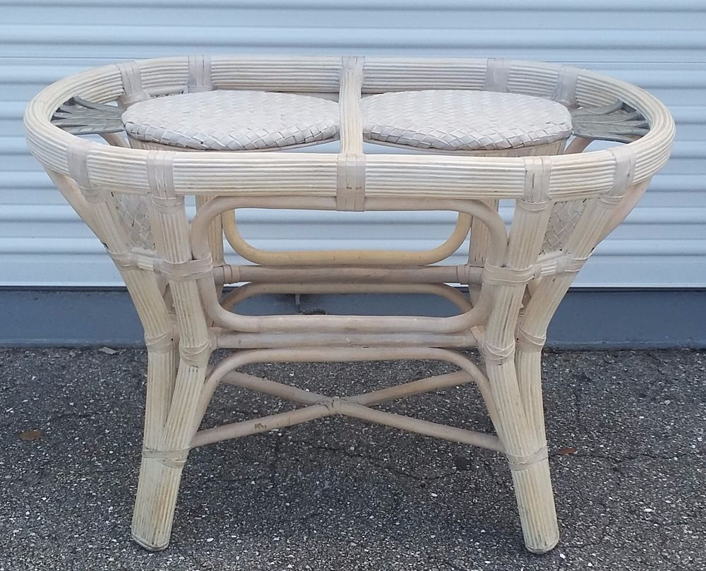 Marvelous Table Base Wicker Rattan Oval Dining With Pineapple Design