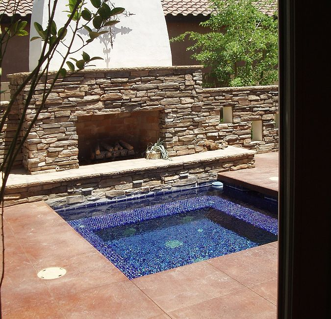 Pin By Glass Tile Warehouse On Outdoor Pool Tile Hot Tub Outdoor Jacuzzi Outdoor Hot Tub Backyard