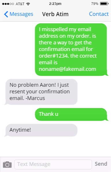 Message Matecustomers Text And Im You From Your Site