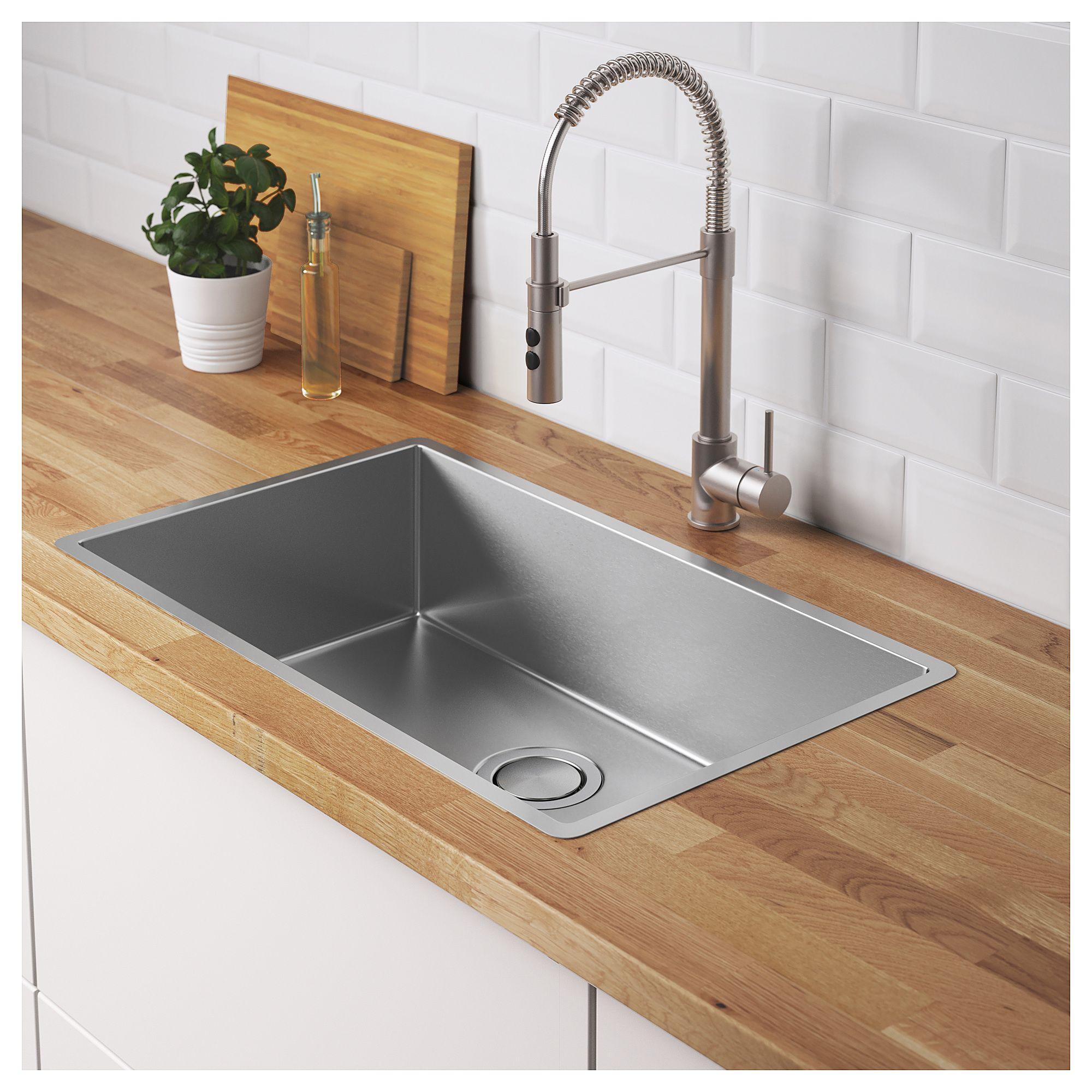 Norrsjon Sink Stainless Steel 29x17 3 8 74x44 Cm Inset